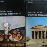 ISTORIA ARTEI -SPIRITUL FORMELOR de ELIE FAURE , VOL.I-II , 1990