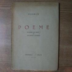 POEME de PUSKIN, 1947 - Carte in alte limbi straine