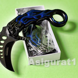 KARAMBIT. Cutit, Briceag COLUMBIA ALIEN Knife. Full Metal. Pliabil