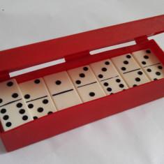 Joc mini Domino Wertprasent Wien, vechi, perioada comunista, 22 piese
