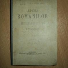LUPTELE ROMANILOR IN RESBELUL DIN 1877-78 de T.C. VACARESCU, BUC. 1887 - Carte veche