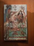 DE ROMANEASCA INVATATURA de SILVESTRU BOATCA , GEORGE SOVU