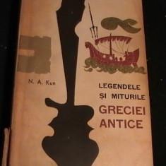LEGENDELE SI MITURILE GRECIEI ANTICE-N. A . KUHN-541 PG- - Carte mitologie