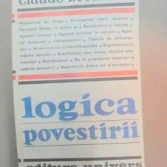LOGICA POVESTIRII-CLAUDE BREMOND BUCURESTI 1981