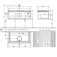 Villeroy & Boch, Legato, mobilier suspendat, un sertar, 100 cm, alb lucios - Corp baie