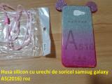 Husa silicon cu urechi de soricel samsug galaxy A5(2016) roz, Samsung Galaxy A5