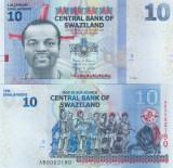 Swaziland 10 Emalangeni 2014 UNC