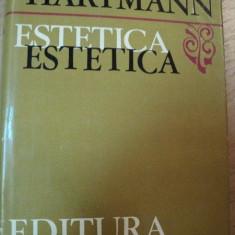 ESTETICA-NICOLAI HARTMANN BUCURESTI 1974