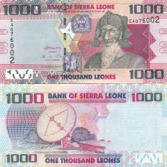 Sierra Leones 1 000 Leones  04.08.2013 UNC