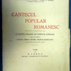 CANTECUL POPULAR ROMANESC - MIHAIL VULPESCU 1930 - Carte Fabule