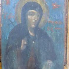 Icoana pe lemn romaneasca, Sf. Parascheva, sec XIX - Pictor roman