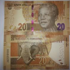 Africa de Sud 20 Rand 2015 UNC - bancnota africa