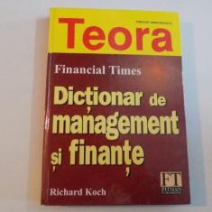 DICTIONAR DE MANAGEMENT SI FINANTE de RICHARD KOCH 2001 - Carte Marketing