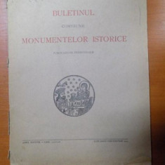 BULETINUL COMISIUNII MONUMENTELOR ISTORICE, PUBLICATIE TRIMESTRIALA, ANUL XXXVIII, FASCICOLA 123-126, IANUARIE-DECEMVRIE, Bucuresti 1945
