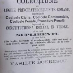 CODICELE ROMANE de VASILE BOERESCU (1865)