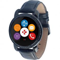 Smartwatch Mykronoz ZeCircle 2 Swarovski Leather Black