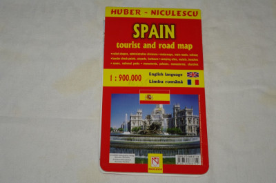 Spania Harta Turistica Si Rutiera Scara 1 900000 Limba