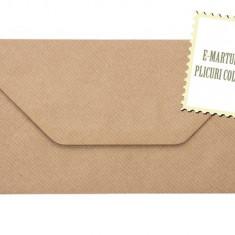 Plic DL/Plicuri DL colorate invitatii/ felicitare. Plicuri maro vintage 110x220 mm (DL) EM110MARO
