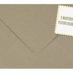 Plic/plicuri patrate colorate invitatii/felicitare 155x155 mm - Kraft reciclat/Vintage EM155KRAFT