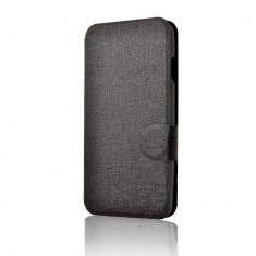 Husa Flip Cover Lemontti Book Jelly pentru Vodafone Smart 4 Turbo Negru - Husa Telefon Lemontti, Vinyl, Cu clapeta