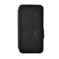Husa Flip Cover Lemontti TLJGLX5MININ Book Jelly neagra pentru Samsung Galaxy S5 Mini G800 - Husa Telefon Lemontti, Vinyl, Cu clapeta