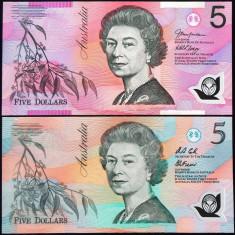 LOT/SET AMBELE Bancnote Polymer 5 Dolari - AUSTRALIA 2017 *cod 490 - UNC!!!