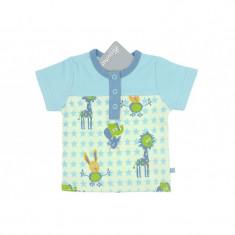 Tricou bleu cu animalute pentru baieti