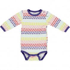 Body colorat maneca lunga bebe, Unisex