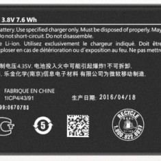 Acumulator Microsoft  Lumia 650 cod BV-T3G produs nou original, Alt model telefon LG, Li-ion