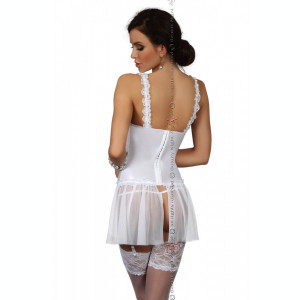 Corset Dorothy Beauty Night - Corset sexy cu portjartier si chilot string MH6385