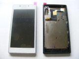 Display LCD cu Touchscreen Sony Xperia M2 (+Rama) Alb Original