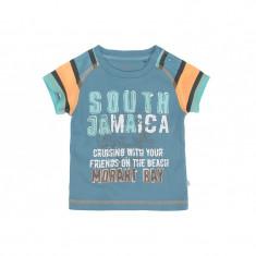 Tricou bleu cu portocaliu pentru baieti