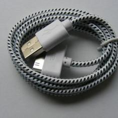 Cablu de Date USB Apple iPhone 4 / 4S Alb (Tip Snur) Bulk