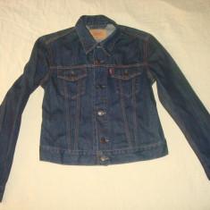 Geaca LEVIS jeans/blugi marimea M pentru fete/originala/noua/clasica - Geaca dama Levi's, Marime: M, Culoare: Indigo, Bumbac