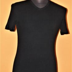 Tricou negru Versace Jeans Couture marimea S - Tricou barbati Versace, Marime: S/M, Maneca scurta, Bumbac