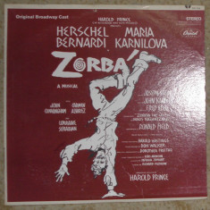 Zorbá (Original Broadway Cast), musical USA 1969, VG, vinil/vinyl - Muzica soundtrack
