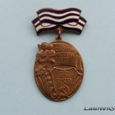 ORDINUL GLORIA MATERNA - Clasa a III-a R.S.R.