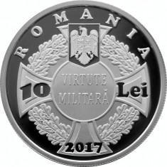 Romania 10 Lei 2017 - Ecaterina Teodoroiu, Argint 31.1/999, 37mm, Proof, UNC !!! - Moneda Romania