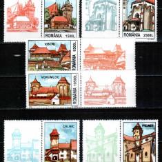 Romania 2002, LP 1582 a, Cetati sasesti Transilv., cu vinieta, MNH! LP 12, 20 lei - Timbre Romania, Istorie, Nestampilat