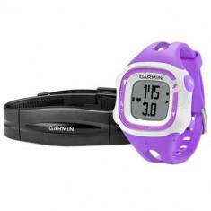 Smartwatch Garmin Forerunner 15 cu banda HR inclusa S Purple