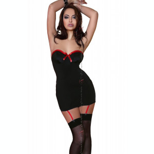 Chemise Madison Beauty Night - Chemise cu portjartier si chilot string - MH6269