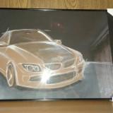 Tablou pastel BMW- masina, Abstract, Altul