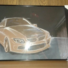 Tablou pastel BMW- masina, Abstract, Altul