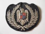 Emblema textila,cuc cascheta subofiter politia romana/dimensiuni=70 x 65 mm