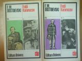 Fratii Karamazov 2 volume Dostoievski coperta Vasile Socoliuc Bucuresti 1982, F.M. Dostoievski