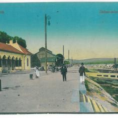 4023 - TURNU SEVERIN, harbor - old postcard - unused - Carte Postala Oltenia 1904-1918, Necirculata, Printata
