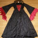 Costum carnaval serbare vrajitoare contesa gotica pentru adulti marime M - Costum Halloween, Marime: Masura unica, Culoare: Din imagine