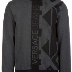 Hanorac Versace Jeans - Hanorac barbati Versace, Marime: M, Culoare: Gri, M, Bumbac, Gri