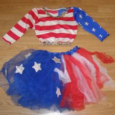 Costum carnaval serbare rochie dans majoreta pentru copii de 7-8 ani - Costum dans, Marime: Masura unica, Culoare: Din imagine