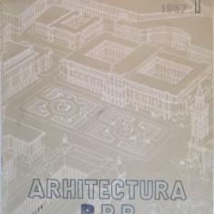 ATHITECTURA RPR, ORGAN AL UNIUNII ARHITECTILOR DIN R.P.R. SI AL COMITETULUI DE STAT PENTRU ARHITECTURA SI CONSTRUCTII, VOL. I, 1957 - Carte Arhitectura